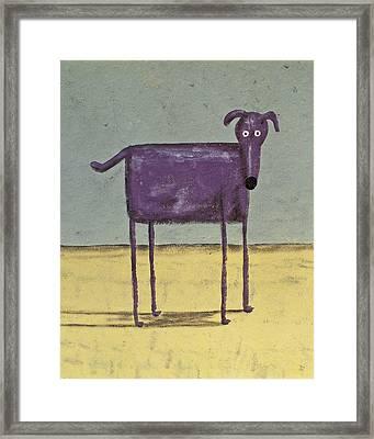 Purple Dog Framed Print by Dan Engh