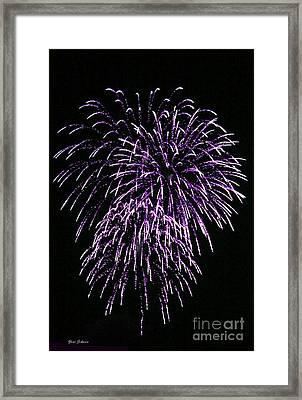 Purple Fire  Framed Print by Yumi Johnson