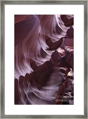 Purple Folds Framed Print by Brenda Kean