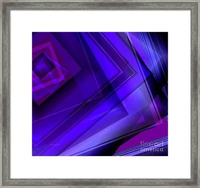 Purple Geometric Transparency Framed Print by Mario  Perez