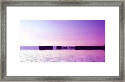 Purple Harbor Framed Print by Sharon Lisa Clarke