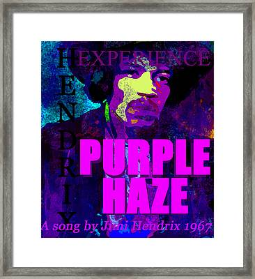 Purple Haze Jh 1967 Framed Print by David Lee Thompson