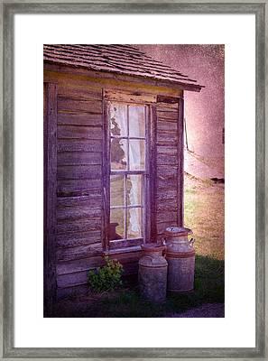 Purple Haze On The Prairie Framed Print by Judy Hall-Folde