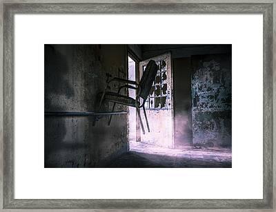 Purple Haze - Strange Scene In An Abandoned Psychiatric Facility Framed Print by Gary Heller