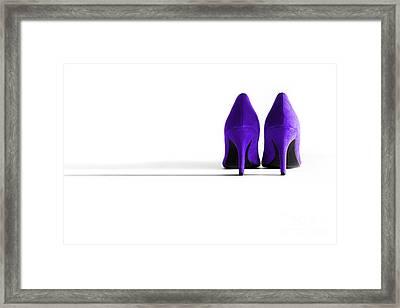 Purple High Heel Shoes Framed Print by Natalie Kinnear