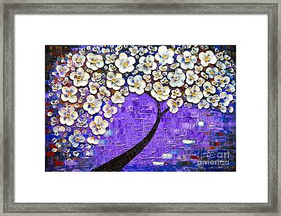 Purple Inspiration Framed Print by Mariana Stauffer