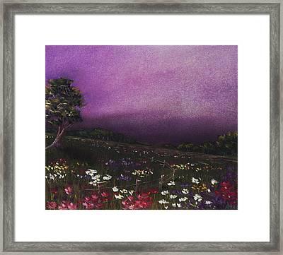 Purple Meadow Framed Print by Anastasiya Malakhova