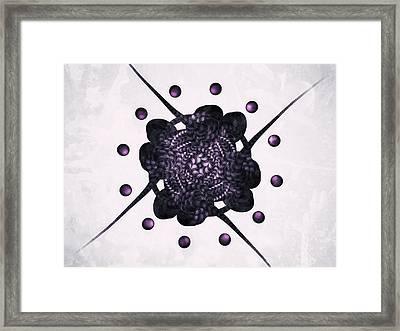 Purple Framed Print by Michael Jordan