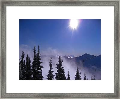 Purple Mountains Majesty Framed Print by Kym Backland