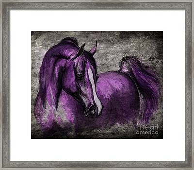 Purple One Framed Print by Angel  Tarantella
