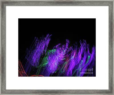 Purple Passion. Dancing Lights Series Framed Print by Ausra Huntington nee Paulauskaite
