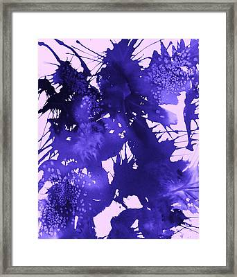 Purple Passion Framed Print by Ellen Levinson