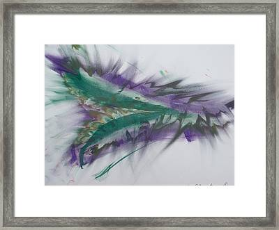 Purple Passion Framed Print by Martin Fried MD