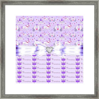 Purple Passion Princess  Framed Print by Debra  Miller