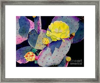 Purple Prickly Pear Framed Print by Robert Hooper