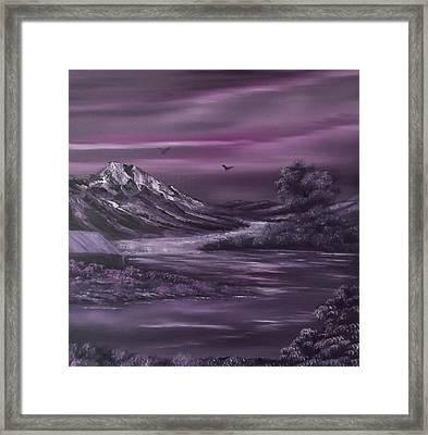 Purple Rain 2 Framed Print by Cynthia Adams