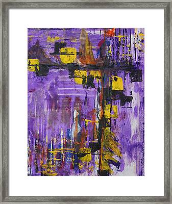 Purple Rain Framed Print by Alexandra Jordankova