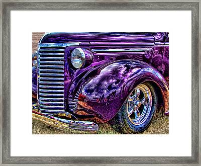 Purple Framed Print by Ron Roberts
