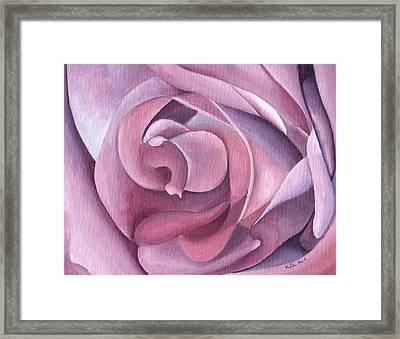 Purple Rose 14-1 Framed Print by William Killen