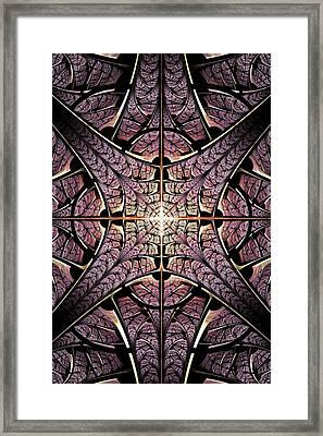 Purple Shield Framed Print by Anastasiya Malakhova