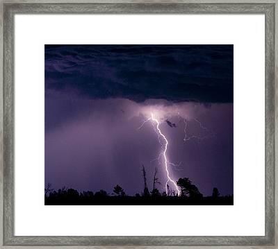 Purple Sky Framed Print by Ren Alber