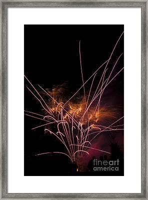 Purple Streaks Of Light Framed Print by Mandy Judson