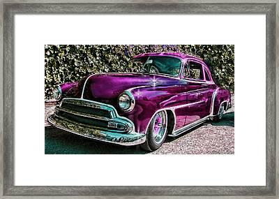 Purple Street Cruiser Framed Print by Samuel Sheats