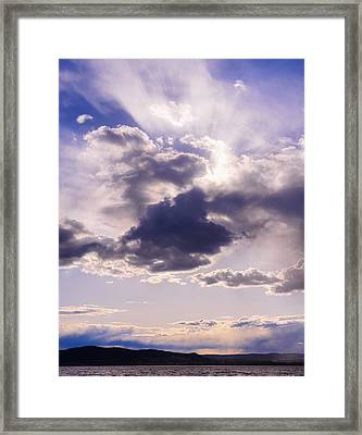 Purple Sunset On The Hudson River Framed Print by Marianne Campolongo