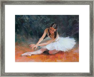 Pursuit Of Perfection Framed Print by Anna Rose Bain