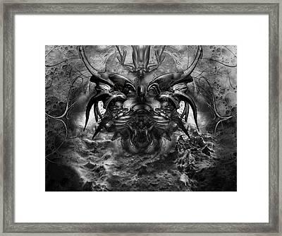 Push Framed Print by David Fox