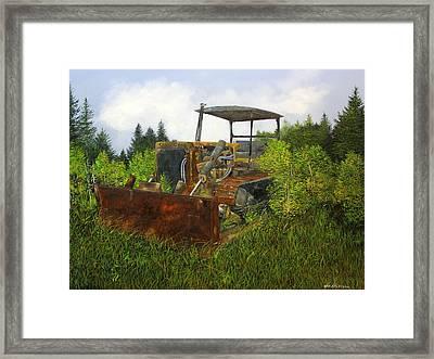 Push Over Framed Print by Ken Ahlering