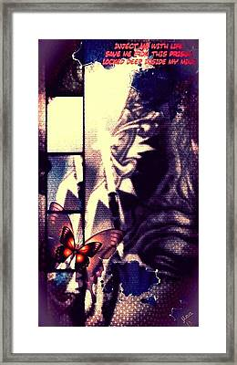 Pushing Salvation Framed Print by Jessica Lea