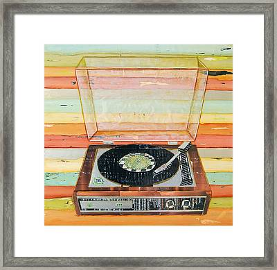 Put A Needle On The Record Framed Print by Danny Phillips