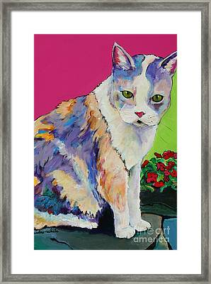 Puurl Framed Print by Pat Saunders-White