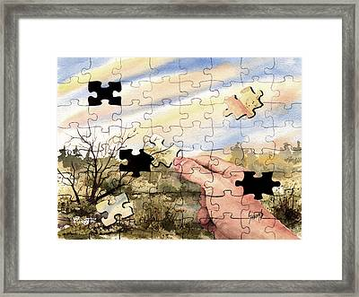 Puzzled Framed Print by Sam Sidders