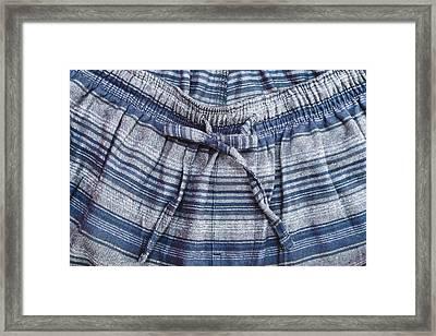 Pyjama Trousers Framed Print by Tom Gowanlock