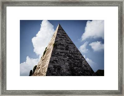 Pyramid Of Rome Framed Print by Joan Carroll