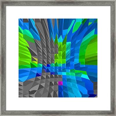 Energy-pyramids Framed Print by Ramon Labusch