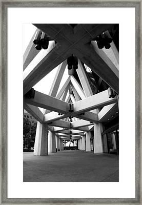 Pyramid Tower Framed Print by Christopher Lugenbeal