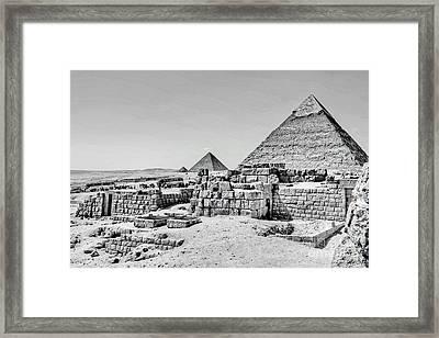 Pyramids  Framed Print by Karam Halim