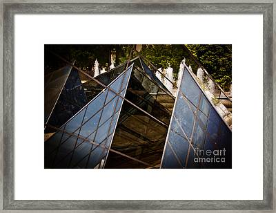 Pyramids Reflected Framed Print by Tom Gari Gallery-Three-Photography