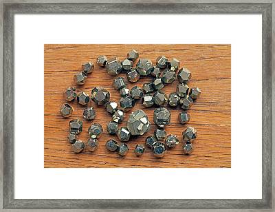 Pyrite Dodecahedrons II Framed Print by Dirk Wiersma
