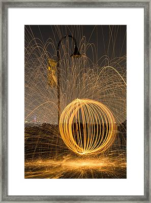Pyrotechnics Framed Print by Susan Candelario