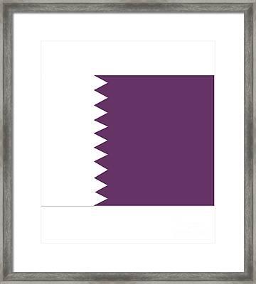 Qatar Flag Framed Print by Frederick Holiday