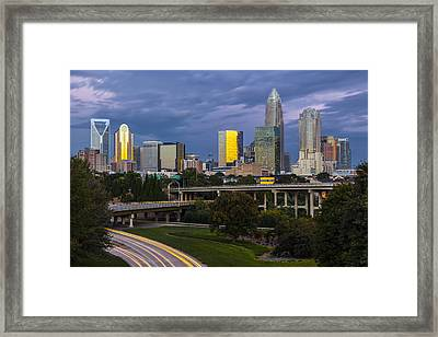 Qc Sunrise Framed Print by Chris Austin