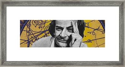 Qed- Richard Phillips Feynman Framed Print by Simon Kregar