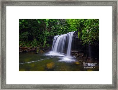 Quadrule Falls Summer Framed Print by Anthony Heflin