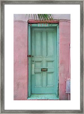 Quaint Little Door In The Quarter Framed Print by Brenda Bryant