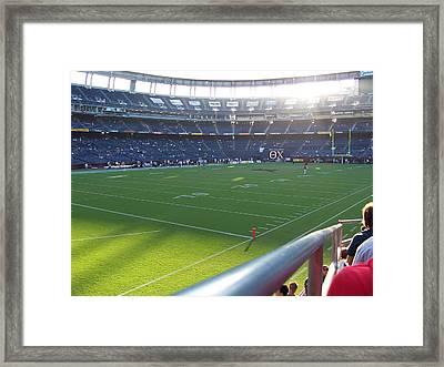 Qualcomm Stadium Framed Print by Georgia Fowler