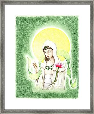 Quan Yin Framed Print by Keiko Katsuta
